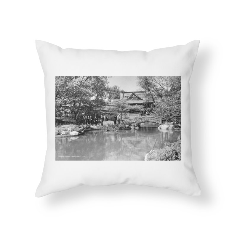 Vintage: Japanese Garden 1936 Home Throw Pillow by chicago park district's Artist Shop