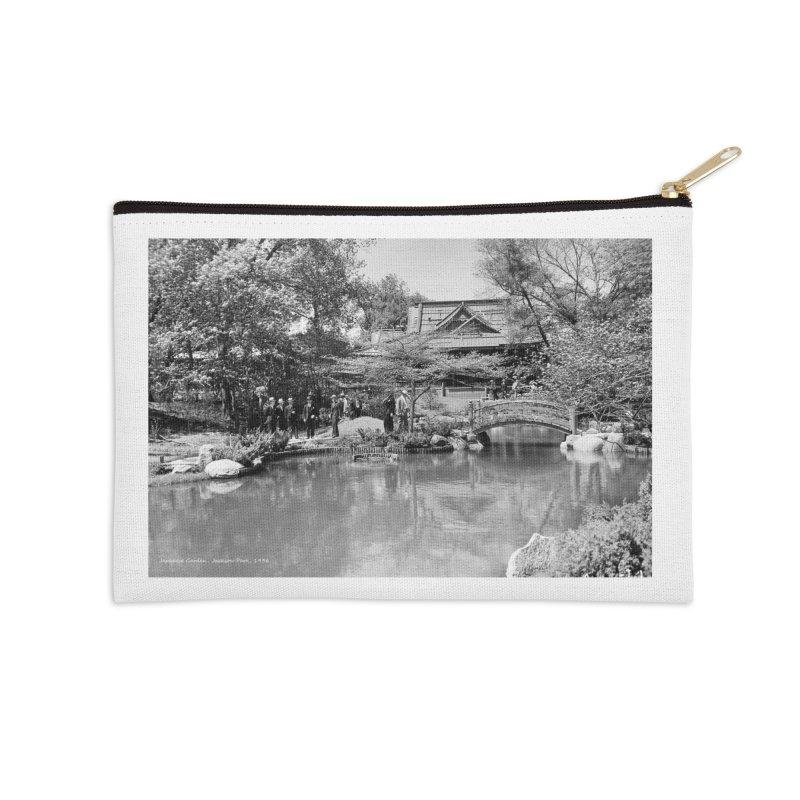 Vintage: Japanese Garden 1936 Accessories Zip Pouch by chicago park district's Artist Shop
