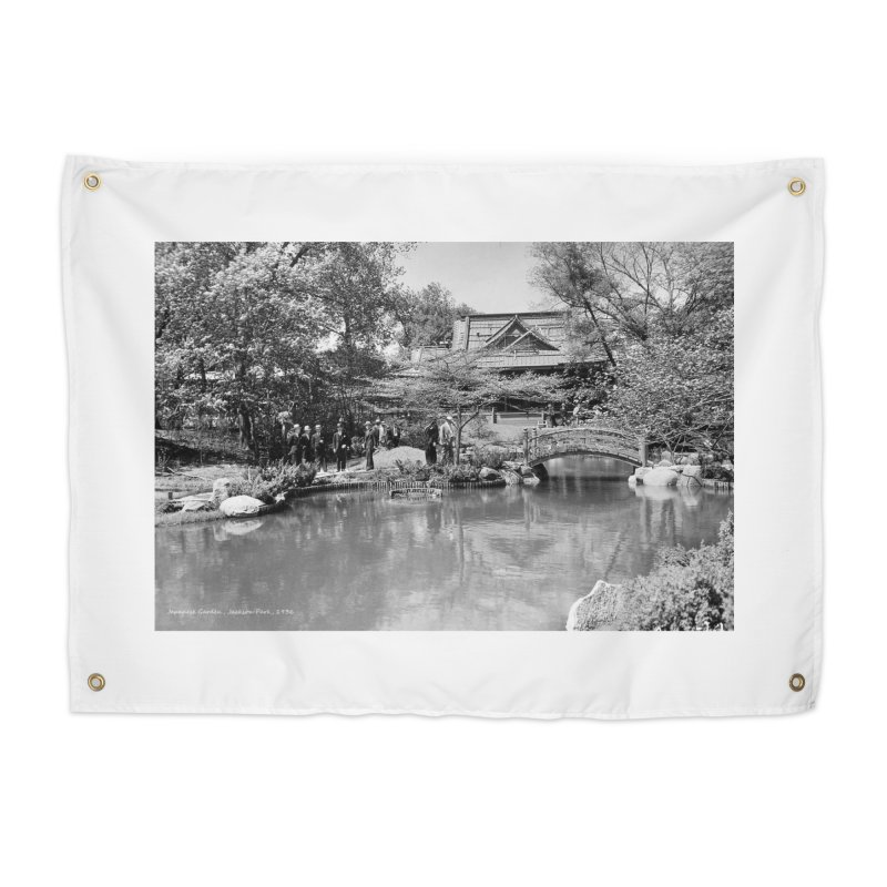Vintage: Japanese Garden 1936 Home Tapestry by chicago park district's Artist Shop