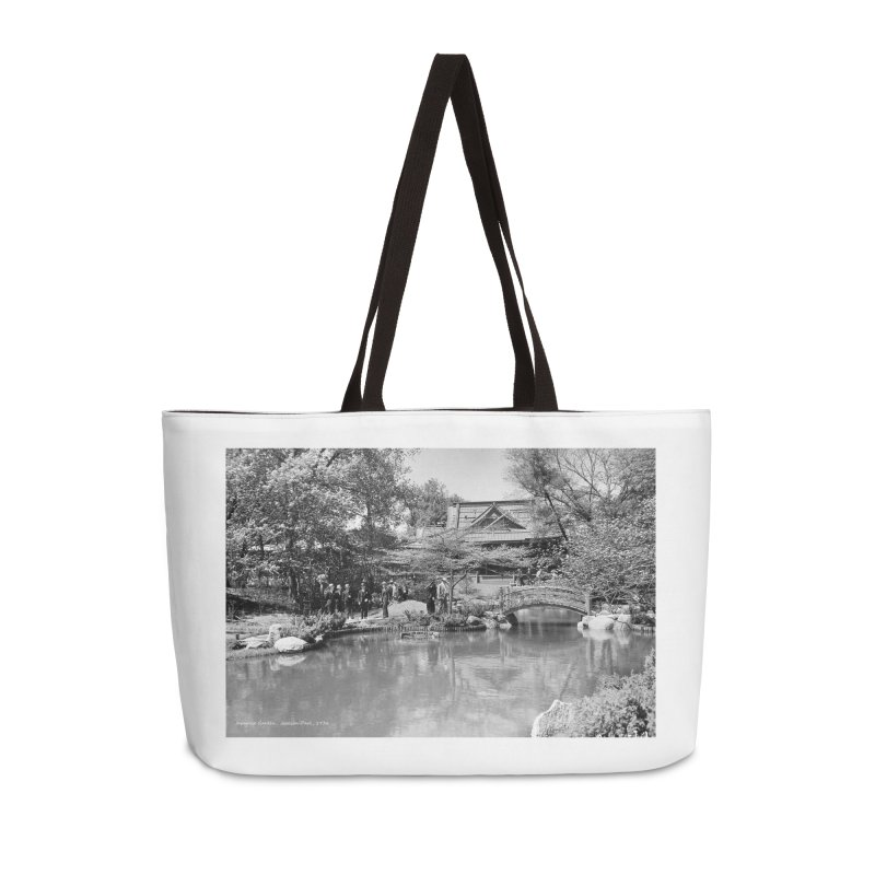 Vintage: Japanese Garden 1936 Accessories Weekender Bag Bag by chicago park district's Artist Shop