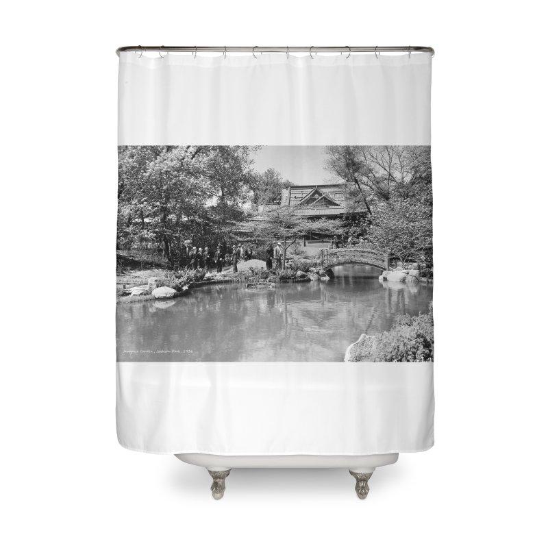 Vintage: Japanese Garden 1936 Home Shower Curtain by chicago park district's Artist Shop