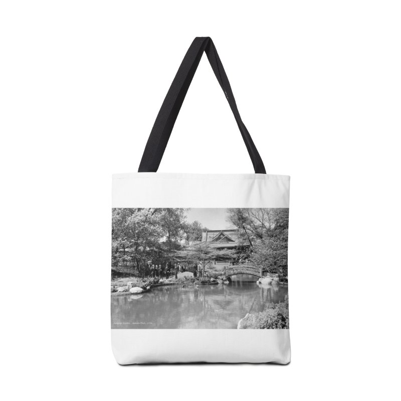 Vintage: Japanese Garden 1936 Accessories Tote Bag Bag by chicago park district's Artist Shop