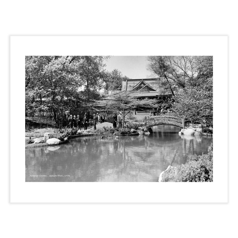 Vintage: Japanese Garden 1936 Home Fine Art Print by chicago park district's Artist Shop
