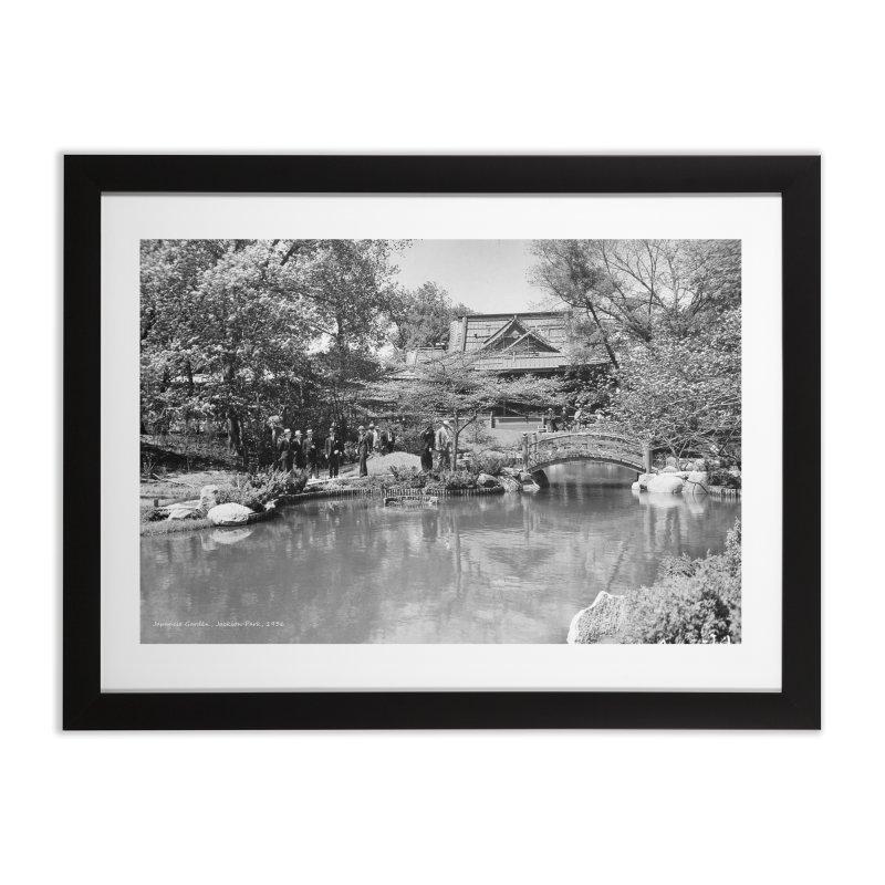 Vintage: Japanese Garden 1936 Home Framed Fine Art Print by chicago park district's Artist Shop