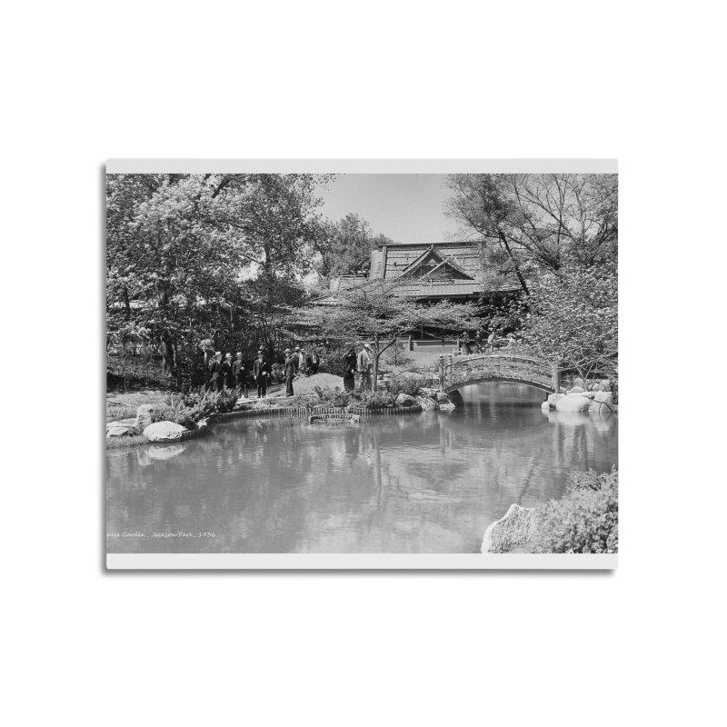 Vintage: Japanese Garden 1936 Home Mounted Aluminum Print by chicago park district's Artist Shop