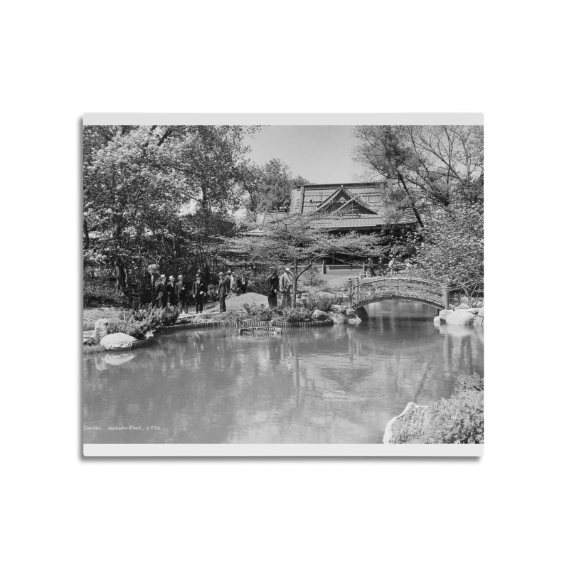Vintage: Japanese Garden 1936 Home Mounted Aluminum Print by chicago park district's Artist Shop