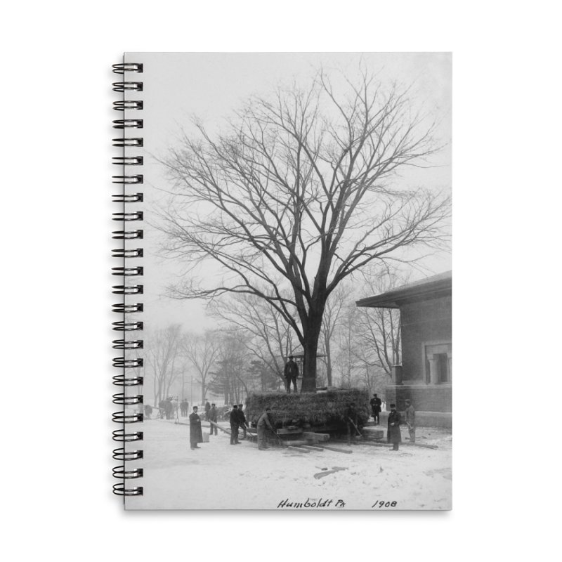 Vintage: Humboldt Park 1908 Accessories Lined Spiral Notebook by chicago park district's Artist Shop