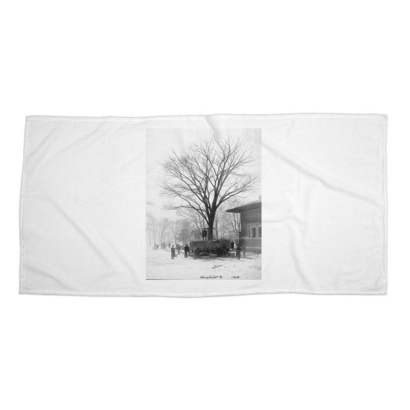 Vintage: Humboldt Park 1908 Accessories Beach Towel by chicago park district's Artist Shop