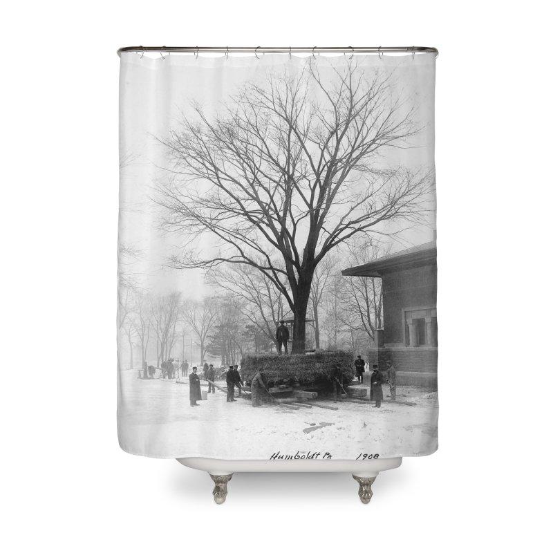 Vintage: Humboldt Park 1908 Home Shower Curtain by chicago park district's Artist Shop