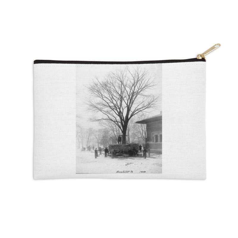 Vintage: Humboldt Park 1908 Accessories Zip Pouch by chicago park district's Artist Shop