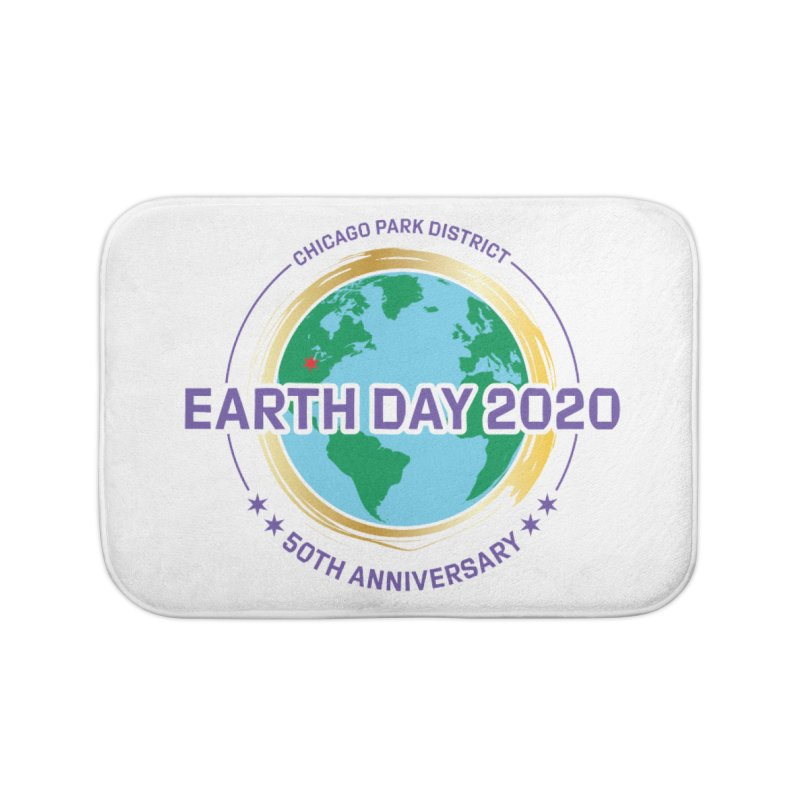 Earth Day 2020 Home Bath Mat by chicago park district's Artist Shop