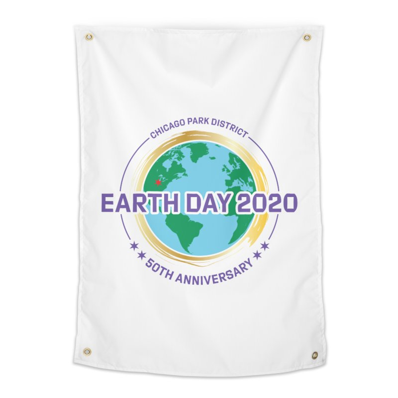Earth Day 2020 Home Tapestry by chicago park district's Artist Shop