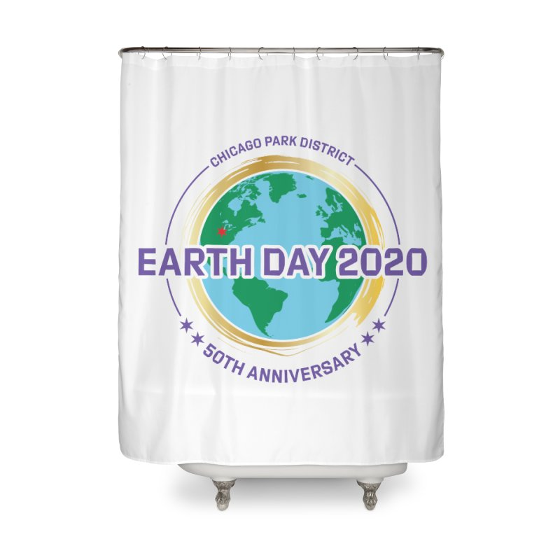 Earth Day 2020 Home Shower Curtain by chicago park district's Artist Shop