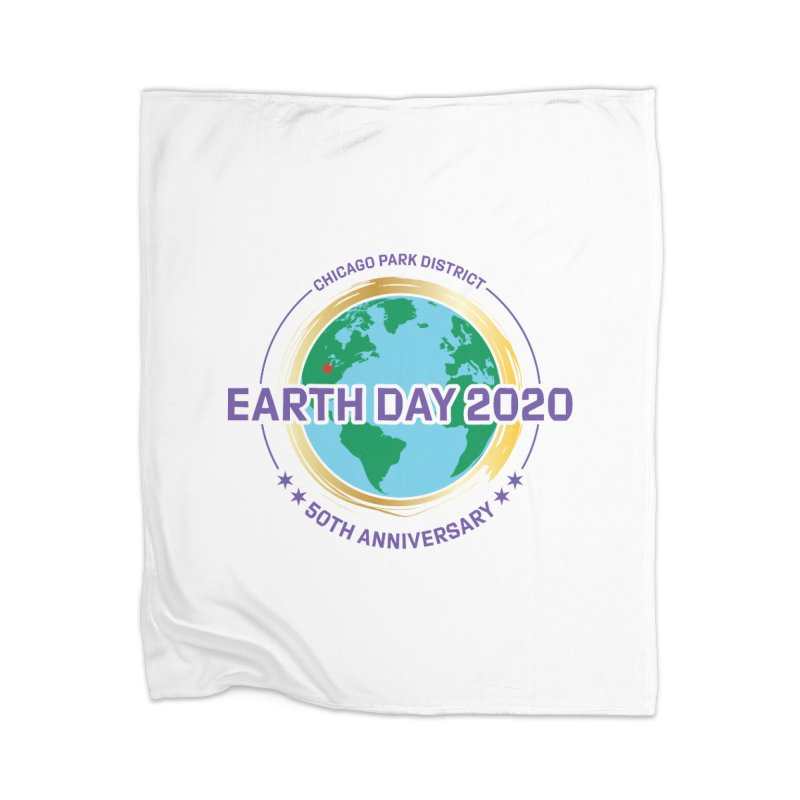 Earth Day 2020 Home Blanket by chicago park district's Artist Shop