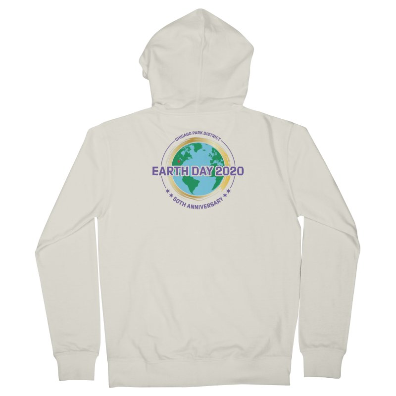Earth Day 2020 Women's Zip-Up Hoody by chicago park district's Artist Shop