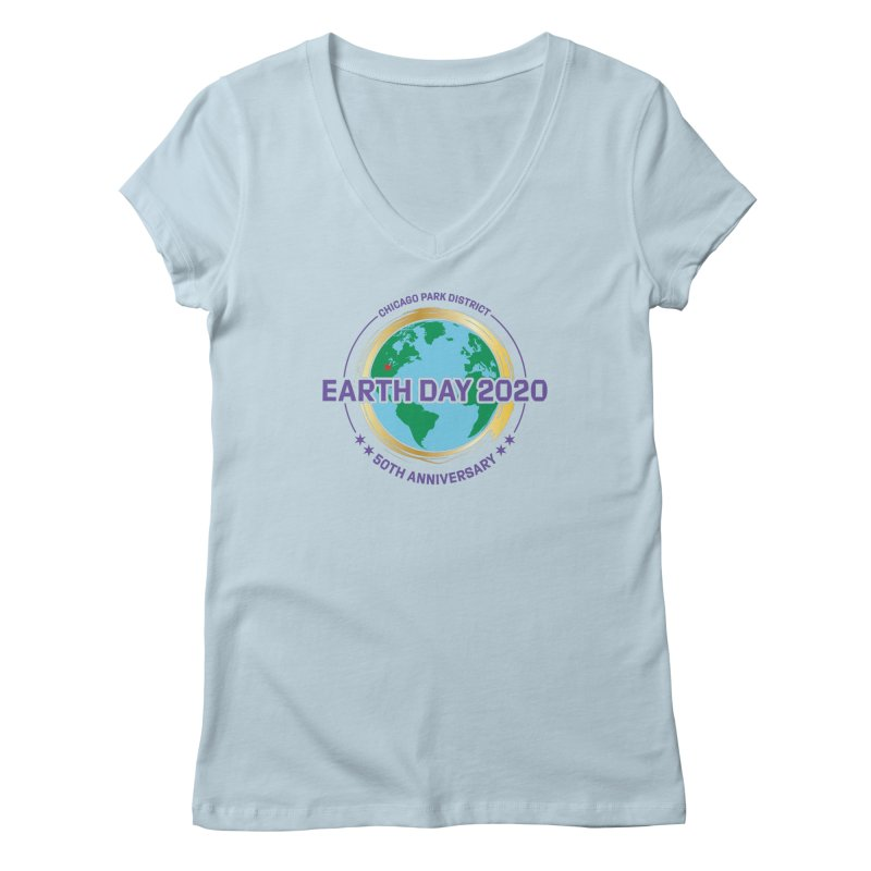 Earth Day 2020 Women's V-Neck by chicago park district's Artist Shop