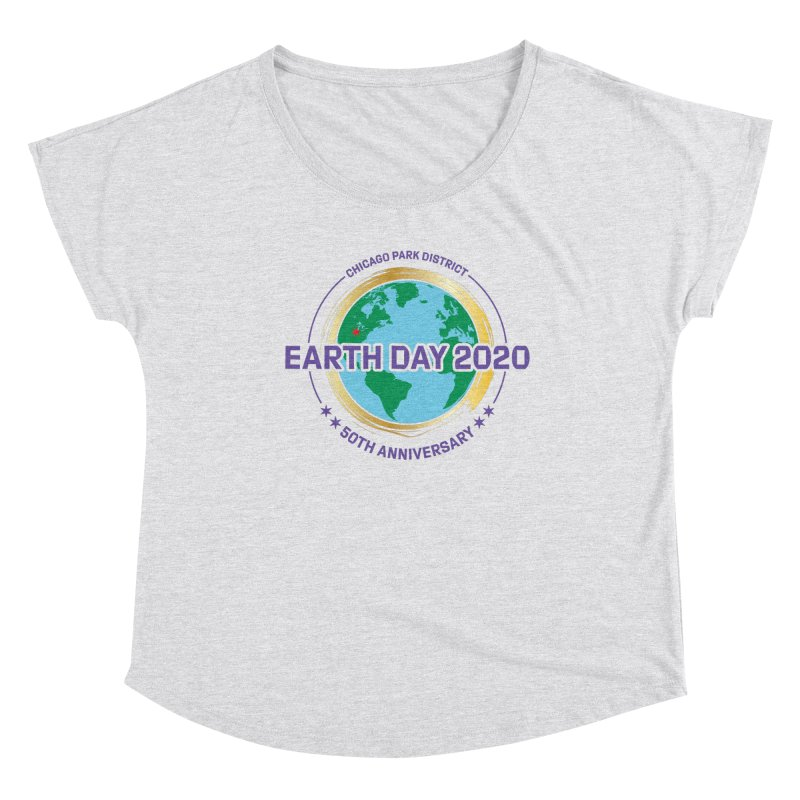 Earth Day 2020 Women's Scoop Neck by chicago park district's Artist Shop