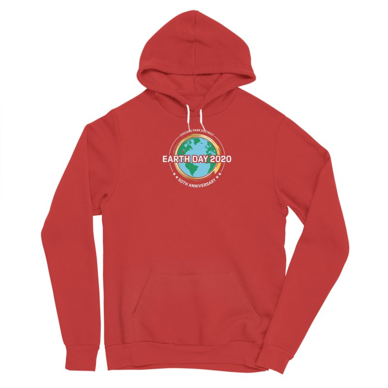 Earth Day 2020 - white text Men's Pullover Hoody by chicago park district's Artist Shop