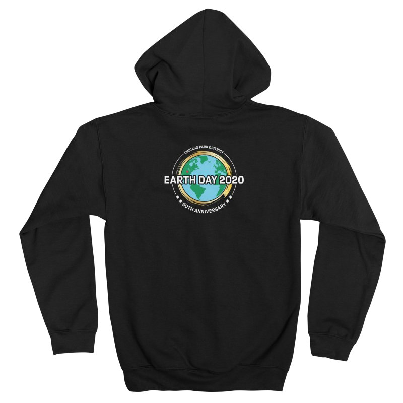 Earth Day 2020 - white text Women's Zip-Up Hoody by chicago park district's Artist Shop