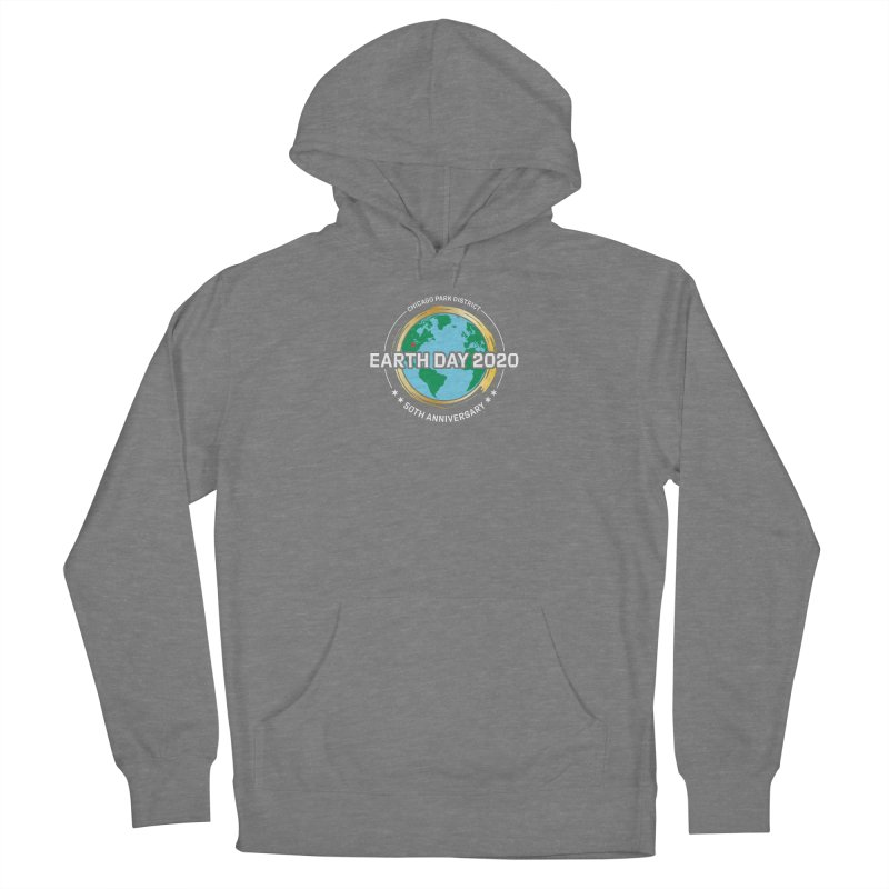 Earth Day 2020 - white text Women's Pullover Hoody by chicago park district's Artist Shop