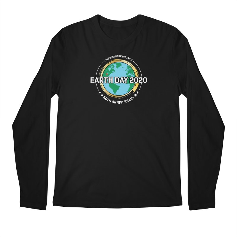 Earth Day 2020 - white text Men's Longsleeve T-Shirt by chicago park district's Artist Shop