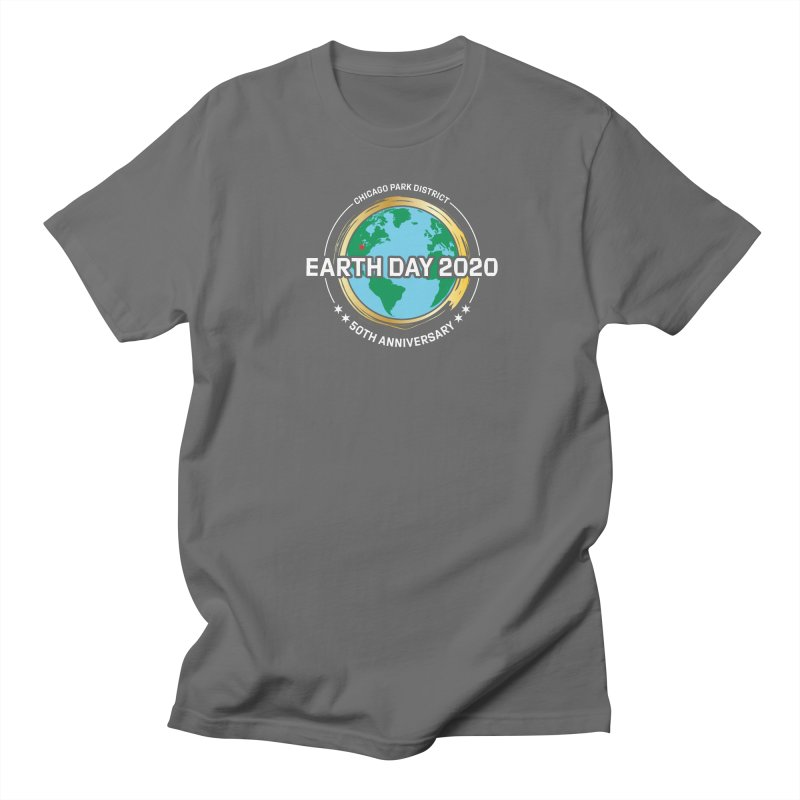 Earth Day 2020 - white text Men's T-Shirt by chicago park district's Artist Shop