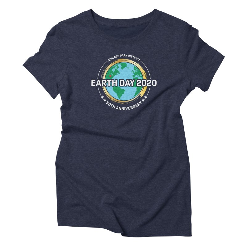 Earth Day 2020 - white text Women's T-Shirt by chicago park district's Artist Shop