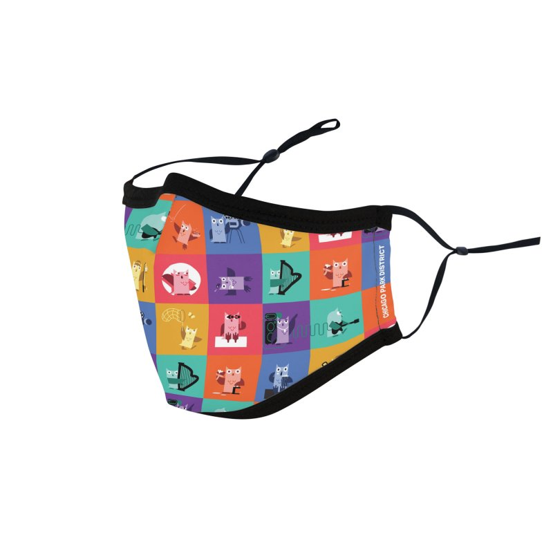 Luna the Owl Stays Active Accessories Face Mask by chicago park district's Artist Shop