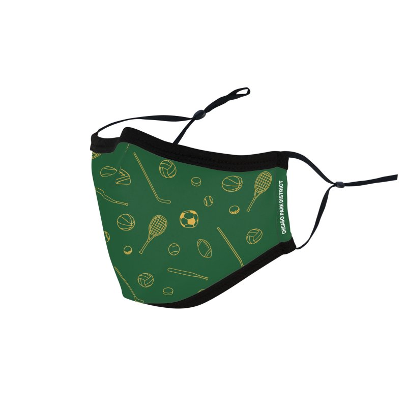Sports Accessories Face Mask by chicago park district's Artist Shop