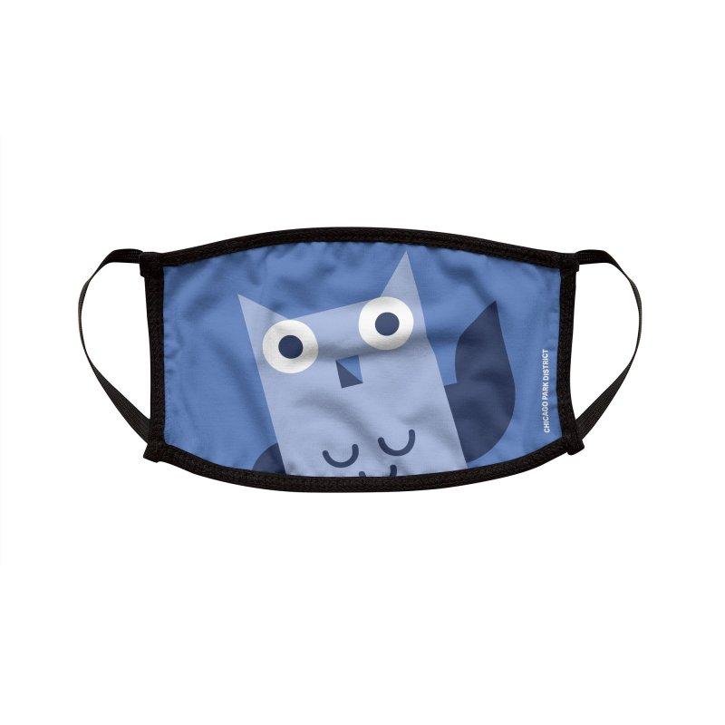 Luna the Owl Accessories Face Mask by chicago park district's Artist Shop