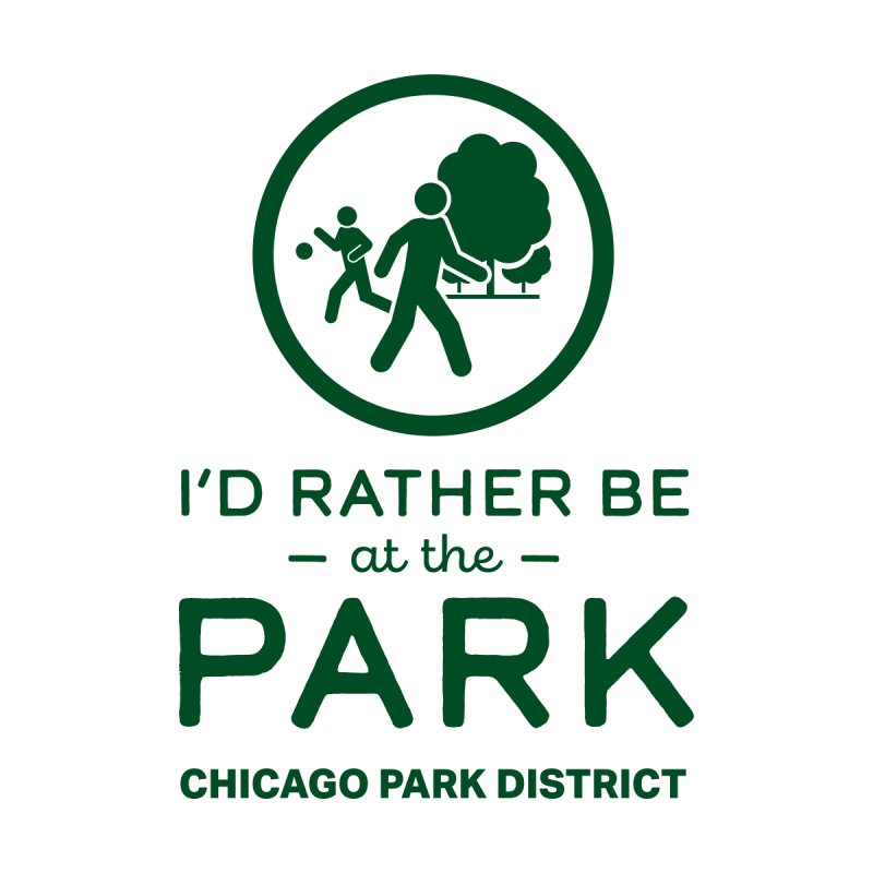 I'd Rather Be At The Park Men's T-Shirt by chicago park district's Artist Shop