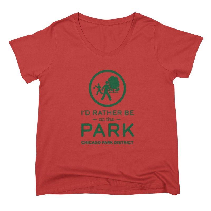 I'd Rather Be At The Park Women's Scoop Neck by chicago park district's Artist Shop