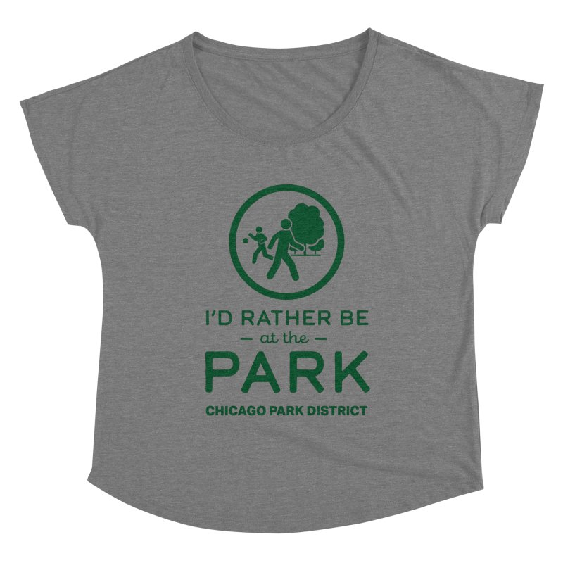 I'd Rather Be At The Park Women's Scoop Neck by chicago park district's Artist Shop