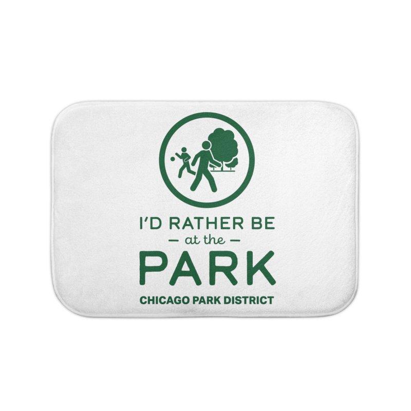 I'd Rather Be At The Park Home Bath Mat by chicago park district's Artist Shop