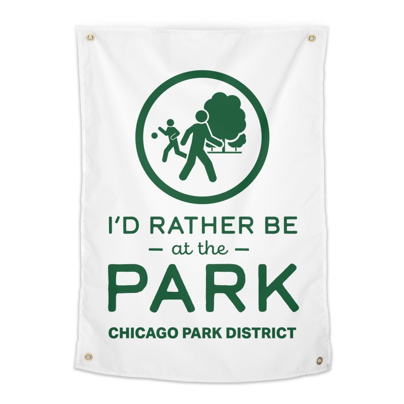 I'd Rather Be At The Park Home Tapestry by chicago park district's Artist Shop