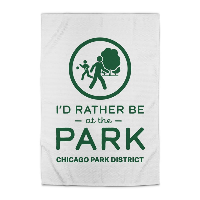 I'd Rather Be At The Park Home Rug by chicago park district's Artist Shop