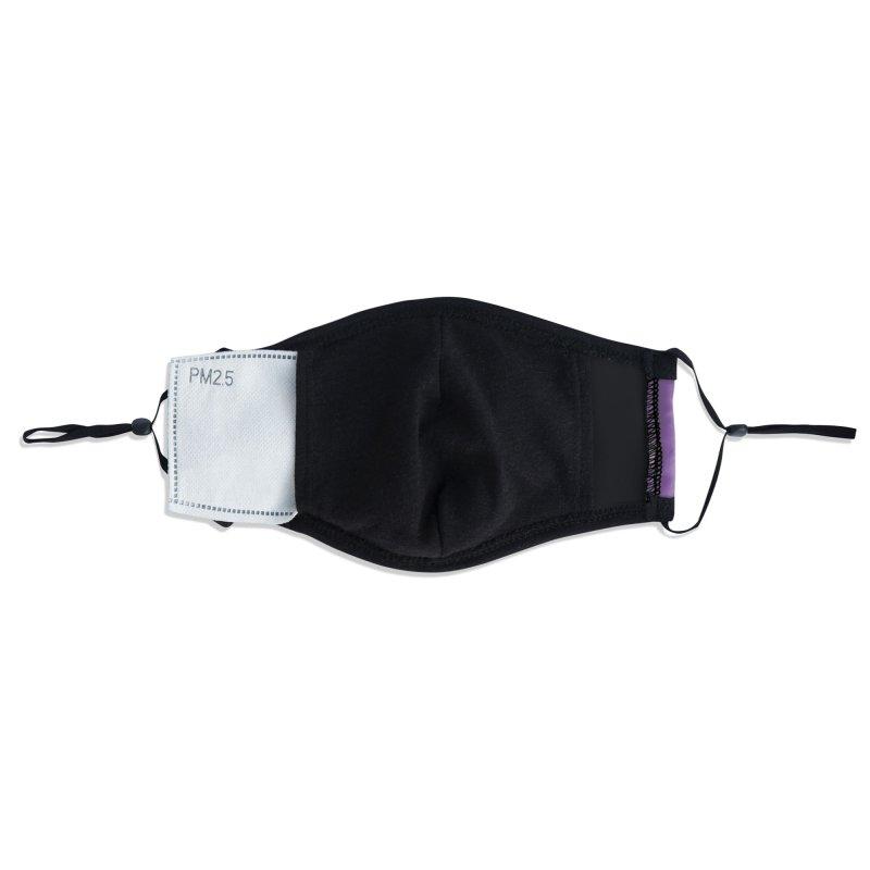 Luna Under the Stars - purple Accessories Face Mask by chicago park district's Artist Shop