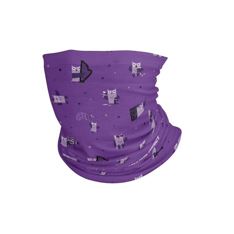 Luna Under the Stars - purple Accessories Neck Gaiter by chicago park district's Artist Shop