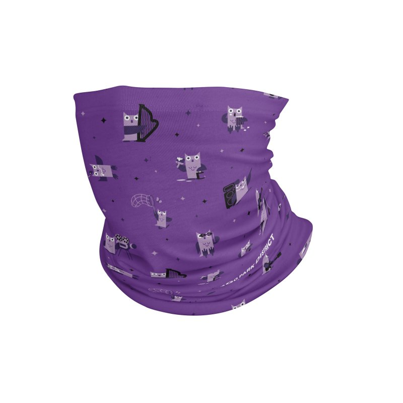 Luna Under the Stars - purple Accessories Neck Gaiter by chicago park district's Artist Shop