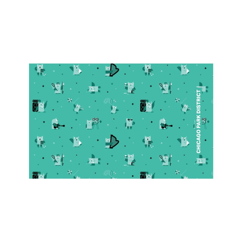 Luna Under the Stars - teal Accessories Face Mask by chicago park district's Artist Shop