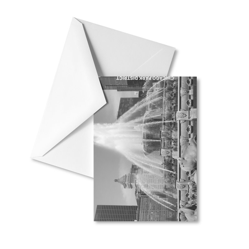 Buckingham Fountain - black & white Accessories Greeting Card by chicago park district's Artist Shop