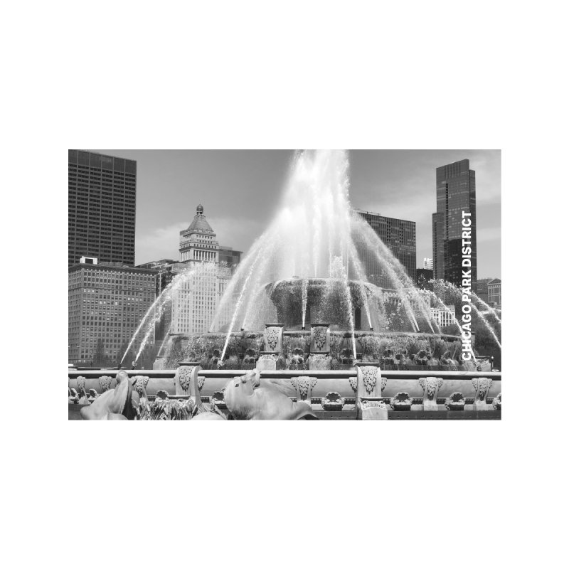 Buckingham Fountain - black & white Home Fine Art Print by chicago park district's Artist Shop