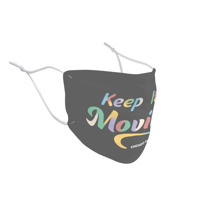 Keep It Moving Accessories Face Mask by chicago park district's Artist Shop
