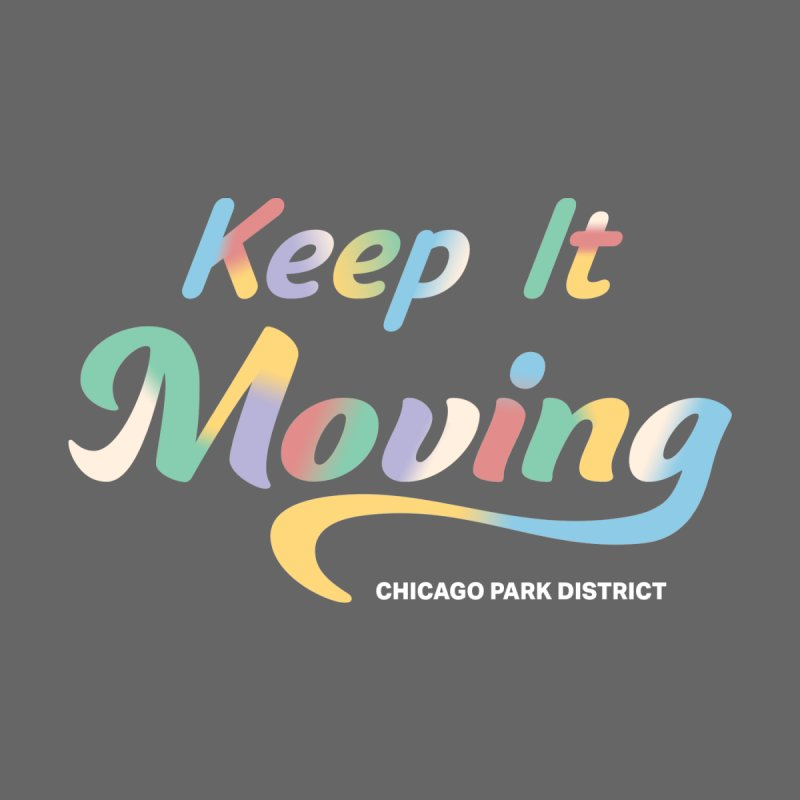 Keep It Moving Women's V-Neck by chicago park district's Artist Shop