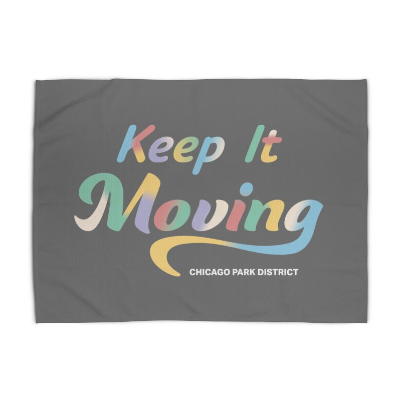 Keep It Moving Home Rug by chicago park district's Artist Shop