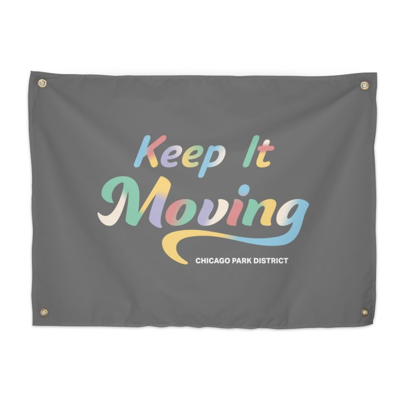 Keep It Moving Home Tapestry by chicago park district's Artist Shop