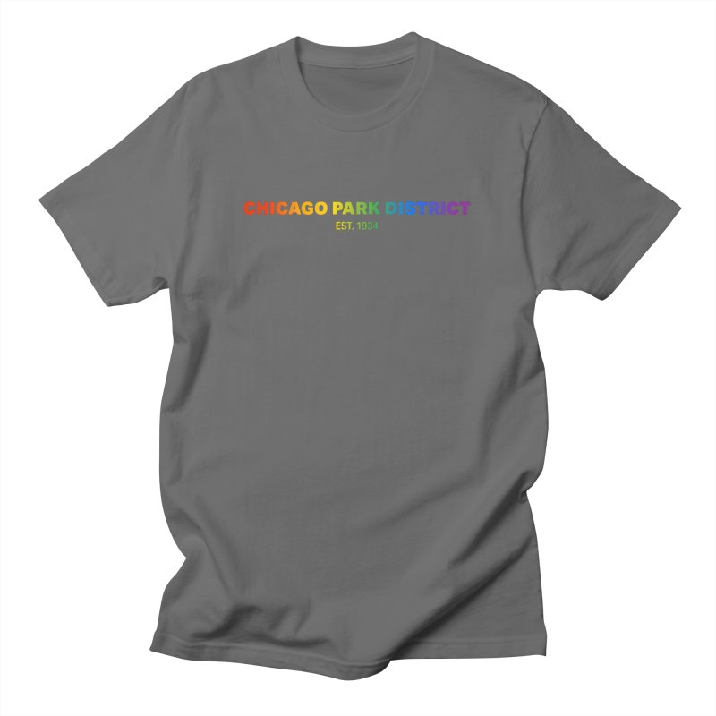 Chicago Park District Established - Rainbow Men's T-Shirt by chicago park district's Artist Shop