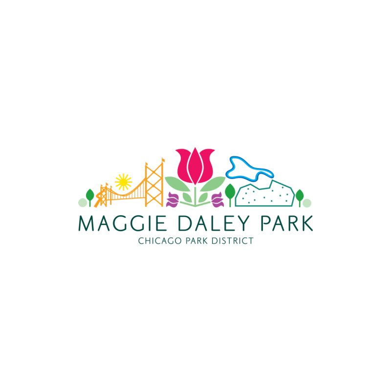 Maggie Daley Park Home Shower Curtain by chicago park district's Artist Shop
