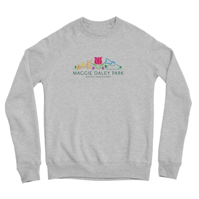 Maggie Daley Park Men's Sponge Fleece Sweatshirt by chicago park district's Artist Shop