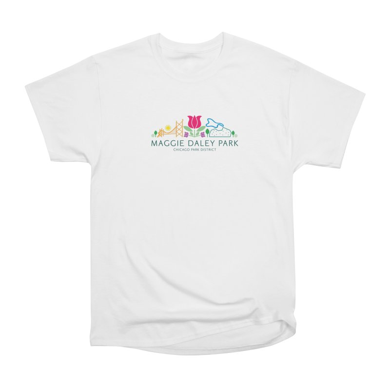 Maggie Daley Park Men's Heavyweight T-Shirt by chicago park district's Artist Shop